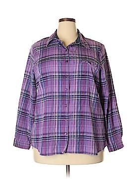 Allison Daley Long Sleeve Button-Down Shirt Size 20W (Plus)