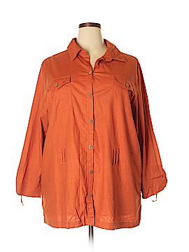 Bechamel Long Sleeve Button-Down Shirt Size 2X (Plus)