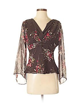 Ann Taylor LOFT Long Sleeve Silk Top Size 4 (Petite)