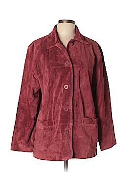 St. John's Bay Leather Jacket Size L (Petite)