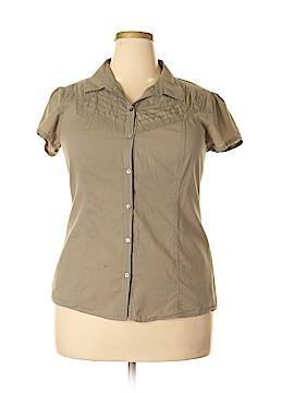 CALVIN KLEIN JEANS Short Sleeve Button-Down Shirt Size XL