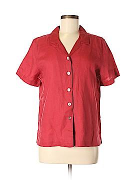 Jamaica Bay Short Sleeve Button-Down Shirt Size M