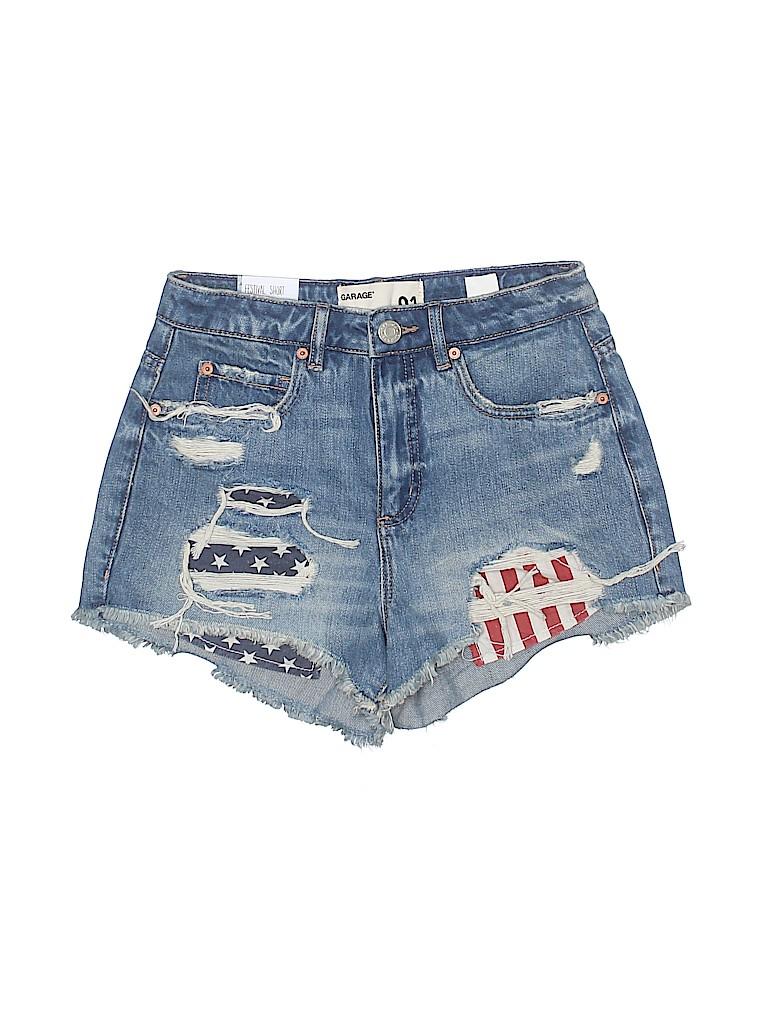 663da3fdf58ef Garage 100% Cotton Stripes Stars Blue Denim Shorts Size 1 - 55% off ...