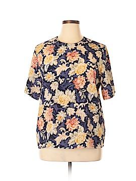 Christie & Jill Short Sleeve Blouse Size XL