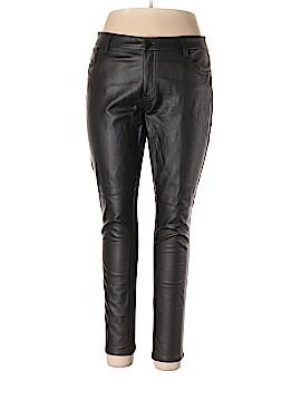 Bisou Bisou Faux Leather Pants Size 16