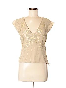 DKNY Short Sleeve Silk Top Size 6