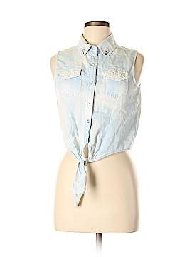 B_envied Sleeveless Button-Down Shirt Size S
