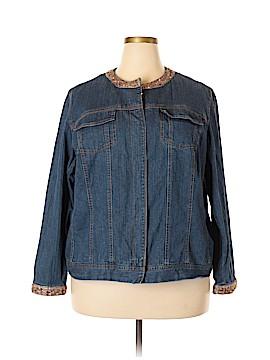 Avenue Jeans Denim Jacket Size 24 (Plus)