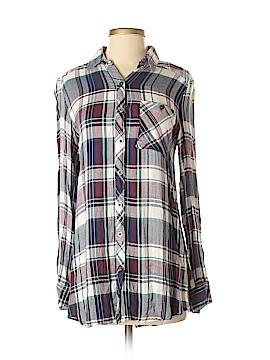 LA Hearts Long Sleeve Button-Down Shirt Size XS