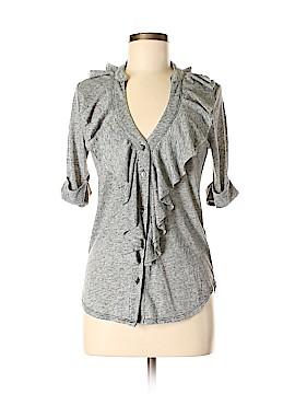 Velvet Short Sleeve Button-Down Shirt Size P (Petite)
