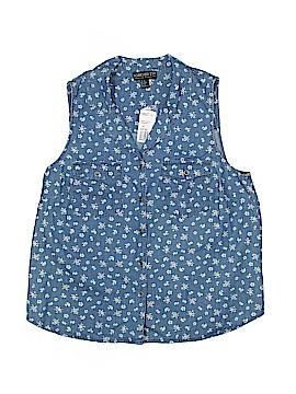 Forever 21 Sleeveless Button-Down Shirt Size XL