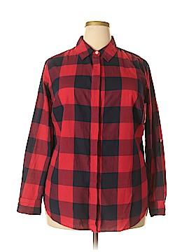Crown & Ivy Long Sleeve Button-Down Shirt Size 1X (Plus)
