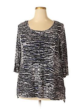Cynthia Rowley TJX 3/4 Sleeve Top Size 1X (Plus)