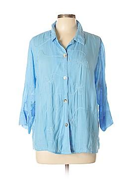 Nomadic Traders 3/4 Sleeve Blouse Size XL (Plus)