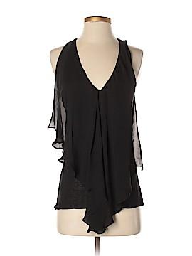 Bordeaux Sleeveless Silk Top Size S