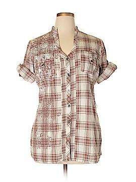 Vanity 3/4 Sleeve Button-Down Shirt Size 2X (Plus)