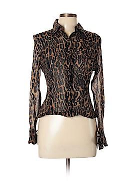 Basix II Long Sleeve Silk Top Size 10