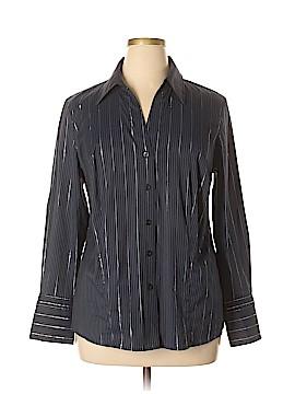 Alfani Long Sleeve Button-Down Shirt Size 16 W