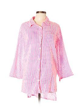 Roberta Roller Rabbit 3/4 Sleeve Button-Down Shirt Size XL