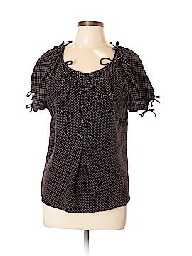 DownEast Basics Short Sleeve Blouse Size L
