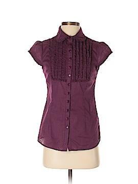 KensieGirl Short Sleeve Button-Down Shirt Size S
