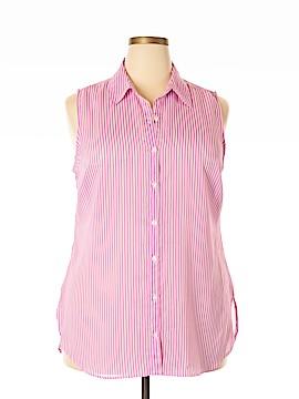 Attention Sleeveless Button-Down Shirt Size XXL