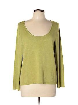 Sigrid Olsen Silk Pullover Sweater Size XL
