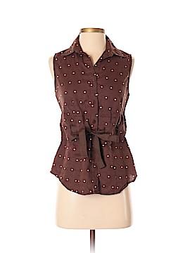 Carole Little Sleeveless Button-Down Shirt Size S