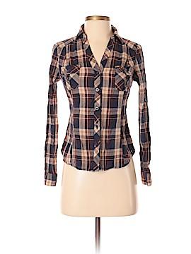 Papaya Long Sleeve Button-Down Shirt Size S