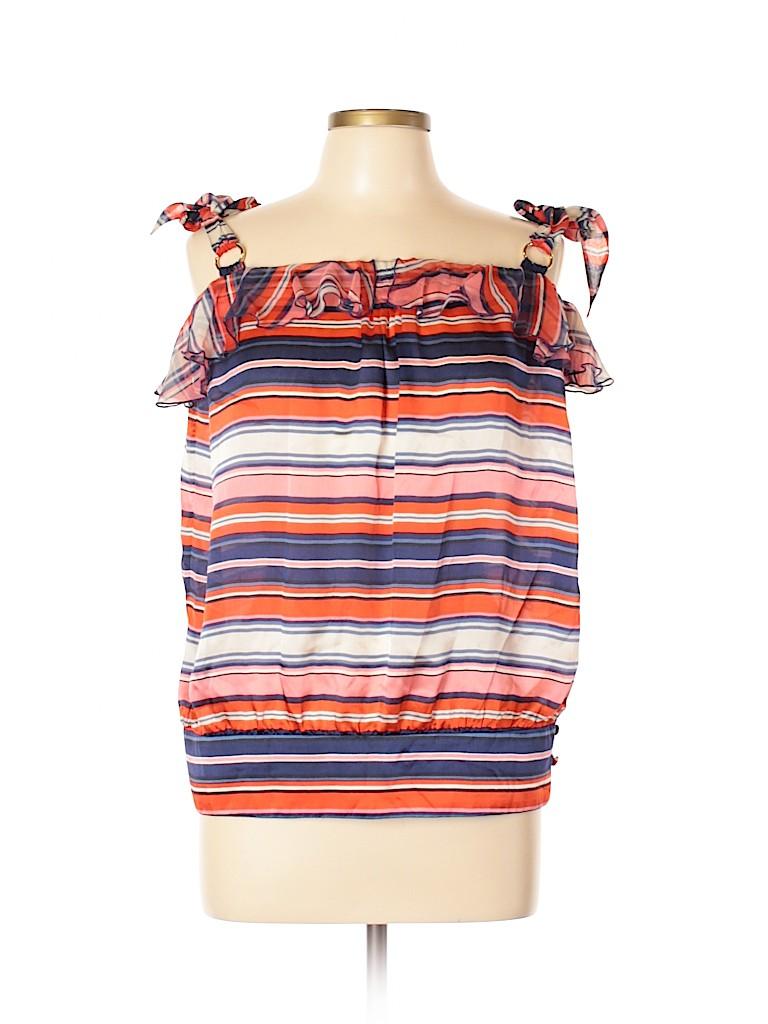 LaROK Women Sleeveless Silk Top Size L