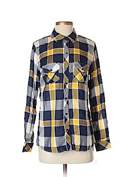 Maison Jules Long Sleeve Blouse Size S