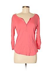 New York & Company Women 3/4 Sleeve Henley Size M