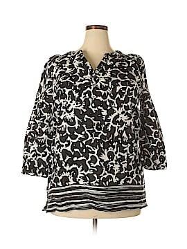 Rafaella 3/4 Sleeve Blouse Size XL