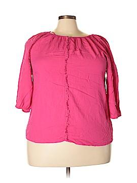 Great Northwest Indigo 3/4 Sleeve Blouse Size 2X (Plus)