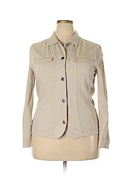 Jones New York Sport Long Sleeve Button-Down Shirt Size 14