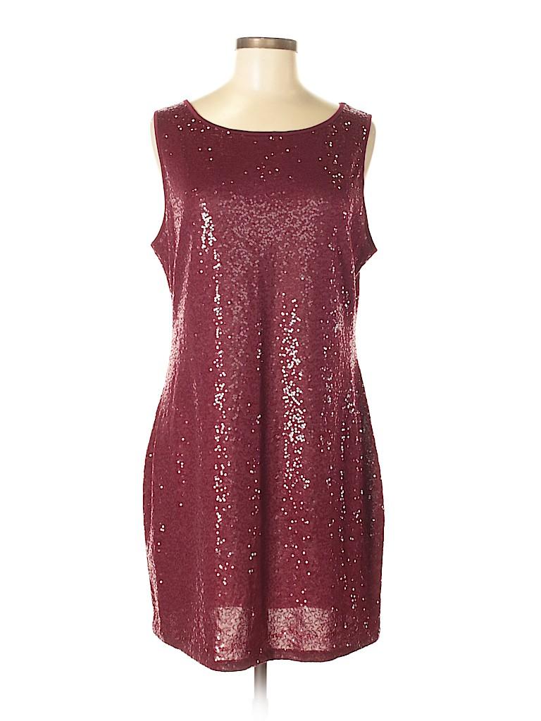 Kensie Solid Burgundy Cocktail Dress Size L 71 Off Thredup