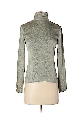Linda Allard Ellen Tracy Long Sleeve Silk Top Size 4 (Petite)