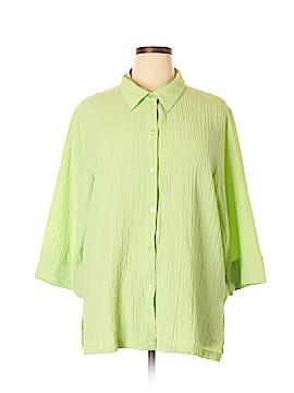 White Stag Long Sleeve Button-Down Shirt Size 18 - 20 Plus (Plus)