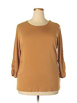 Anne Klein Long Sleeve T-Shirt Size 2X (Plus)