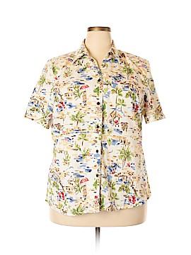 Allison Daley Short Sleeve Button-Down Shirt Size 18 (Plus)