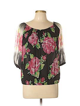 Blugirl Blumarine 3/4 Sleeve Silk Top Size 38 (IT)