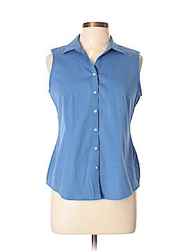 Charter Club Sleeveless Button-Down Shirt Size 10