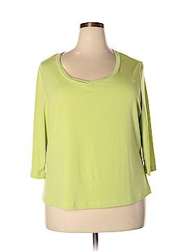 Pierre Cardin 3/4 Sleeve T-Shirt Size 2X (Plus)