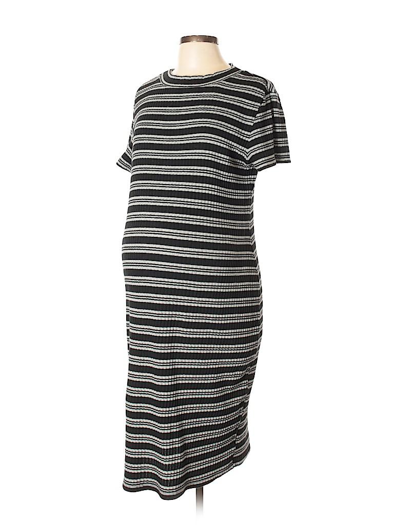cf34327018343 Liz Lange Maternity Stripes Black Casual Dress Size XL (Maternity ...