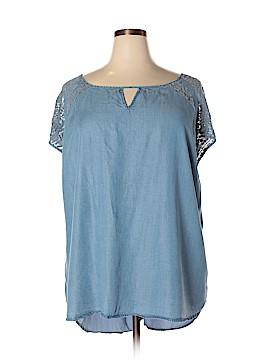 Ava & Viv Short Sleeve Blouse Size 4X (Plus)