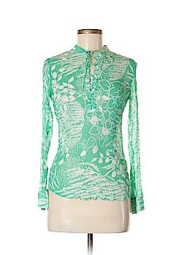H&M Long Sleeve Silk Top Size 6