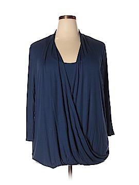Laila Jayde 3/4 Sleeve Top Size 3X (Plus)