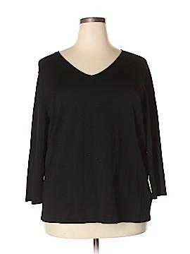 Rena Rowan 3/4 Sleeve Top Size 3X (Plus)