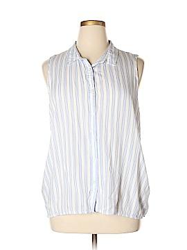 Atmosphere Sleeveless Button-Down Shirt Size 16