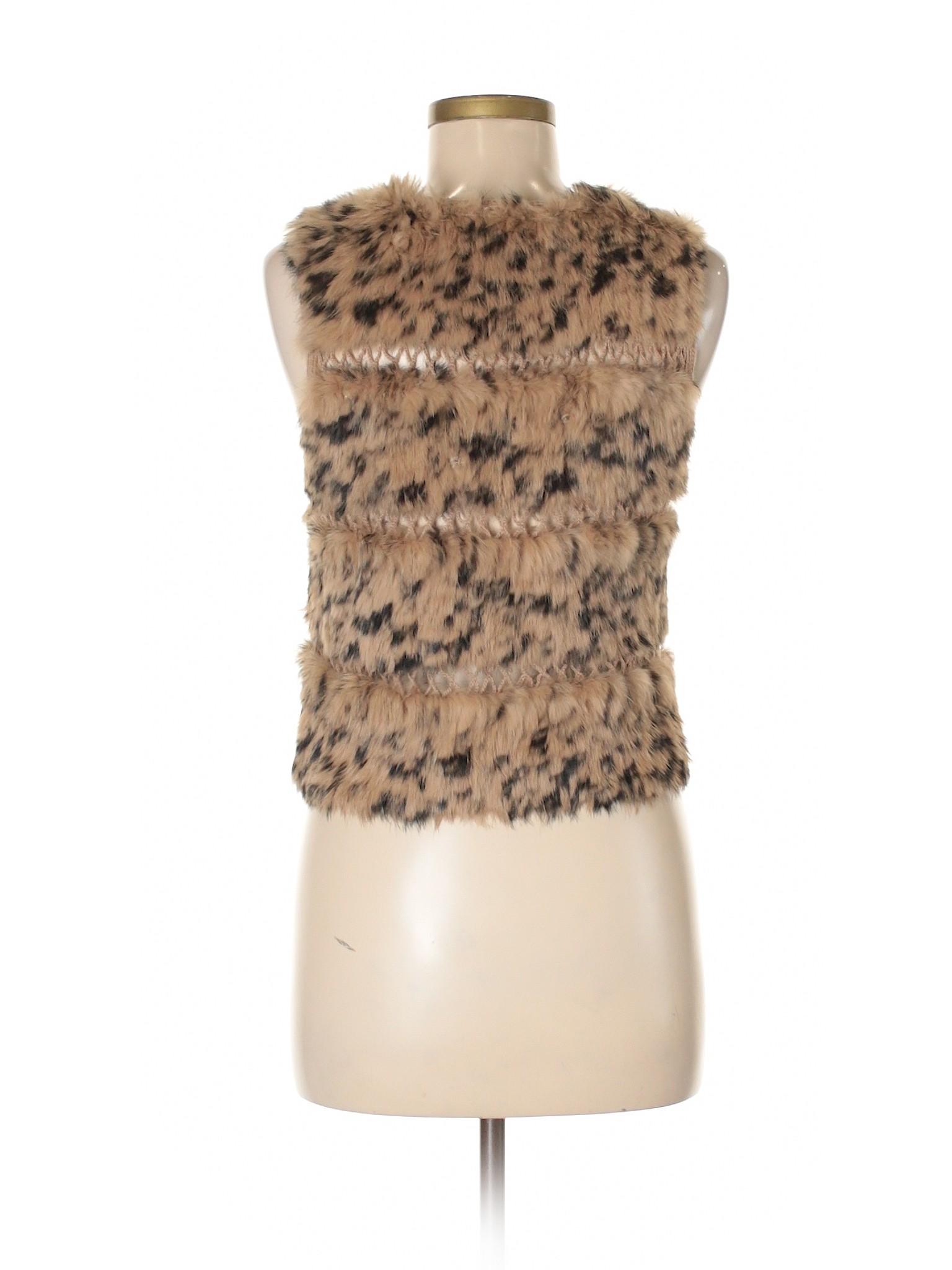 Winter Bcbgmaxazria Vest Leisure Fur Faux axHqgCwB